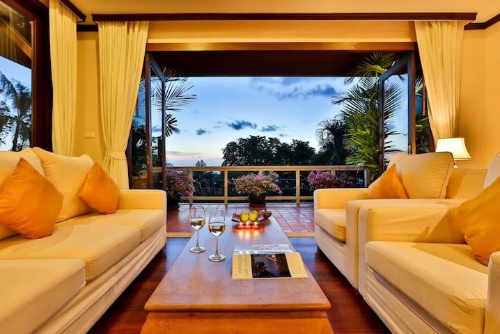 Katamanda villa 3bedroom sea view private pool