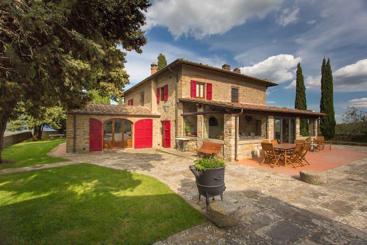 Poggio del Fattore-Villa with pool,hilltop,Chianti - San Leolino
