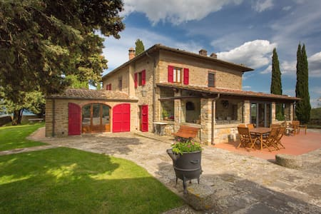 Poggio del Fattore-Villa with pool,hilltop,Chianti