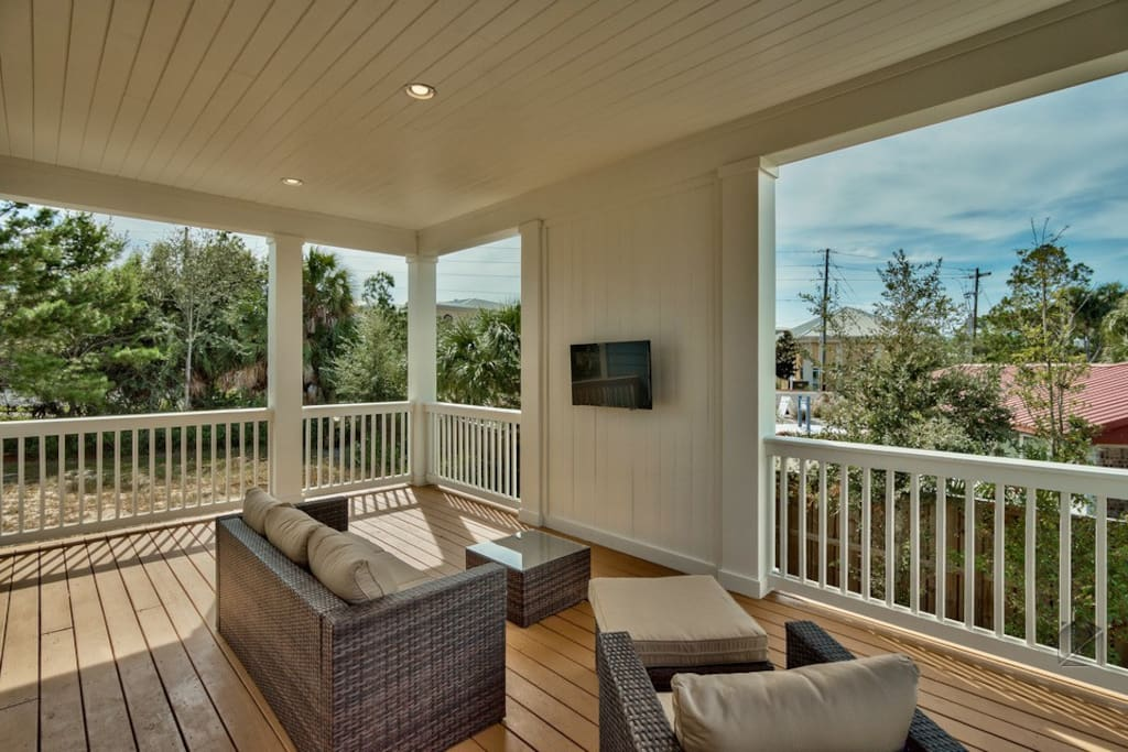 Captain's Deck isn't just a name - the deck here is large and features an outdoor TV.