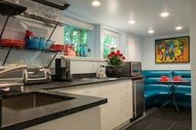 Kitchen With Cooktop & Toaster Oven