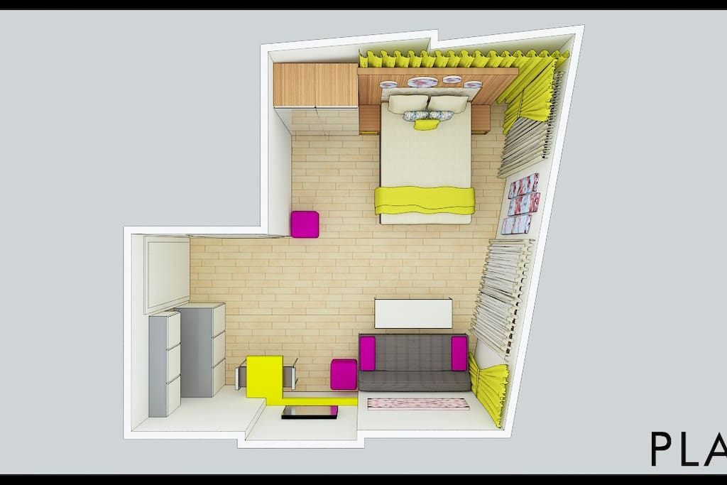 Plan of our blossom rooms