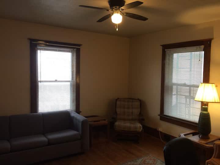 Second floor simple 1 bedroom apartment