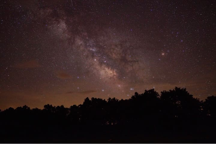 Milky Way Galaxy, courteous of a guest. This picture was taken off the banks of the pond.