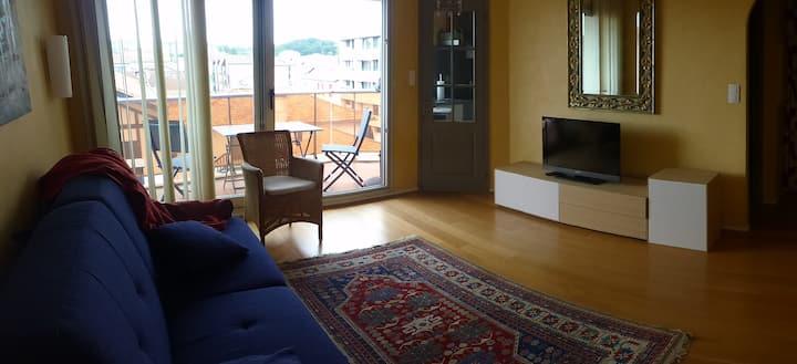 studio avec  terrasse au calme et tout à pied