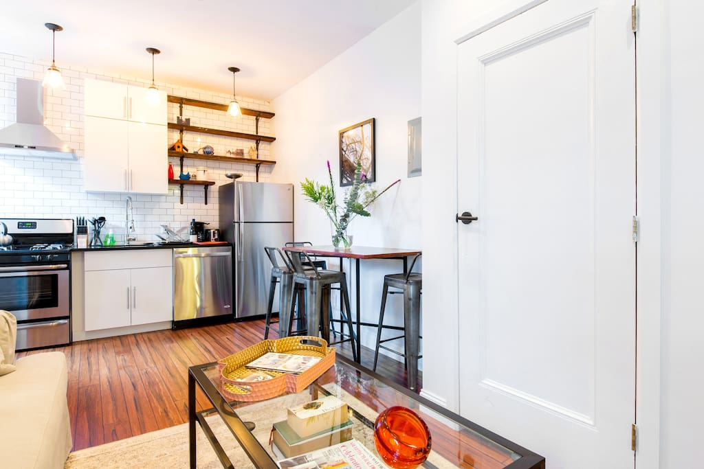 Living dining and open kitchen