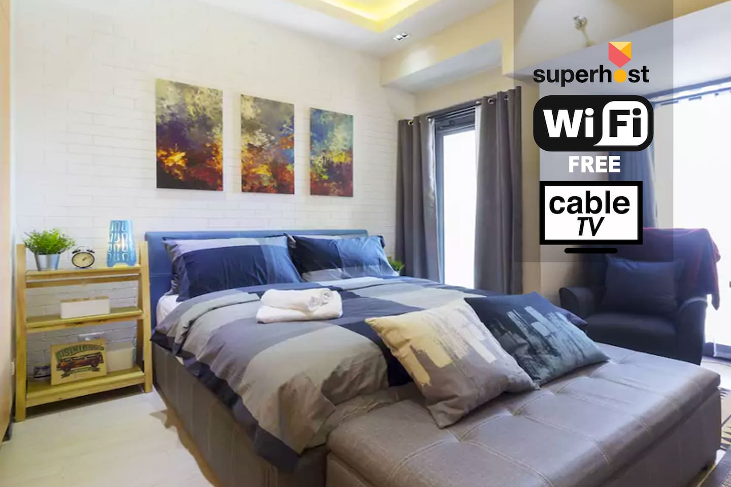 Hosted by an experienced and friendly AirBnB SUPERHOST, a well designed fully-furnished studio apartment situated in the most-sought address in Manila. Ready to cater business travelers, tourists and stop-over travelers, your HOME away from HOME!