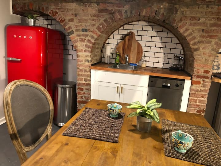 Historic Firehouse Apt. w/ Outdoor Patio, Old City
