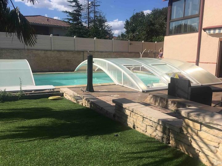 Appartement avec accès jardin proche Toulouse