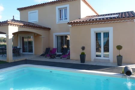 Belle villa avec piscine pour 7 p. - Aniane