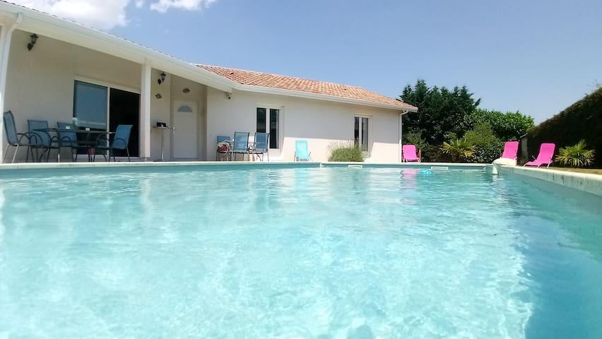 Chambre 160 Villa piscine lac Océan Arcachon Pilat