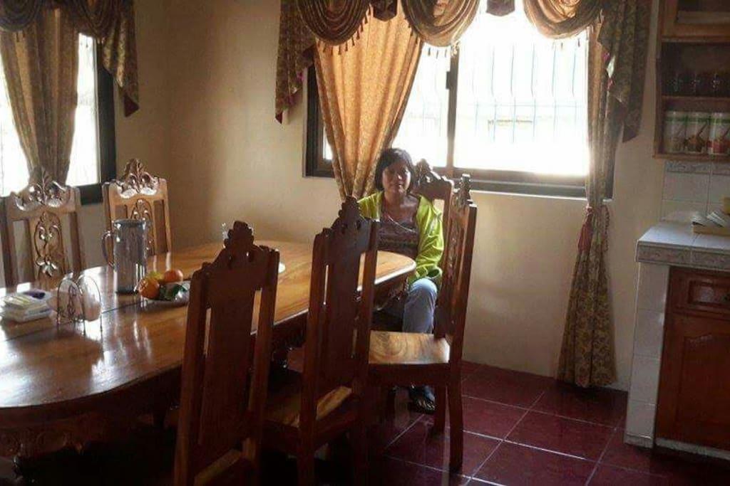 Spacious spanish type dining area is suitable for your family and friends good for 12 persons.