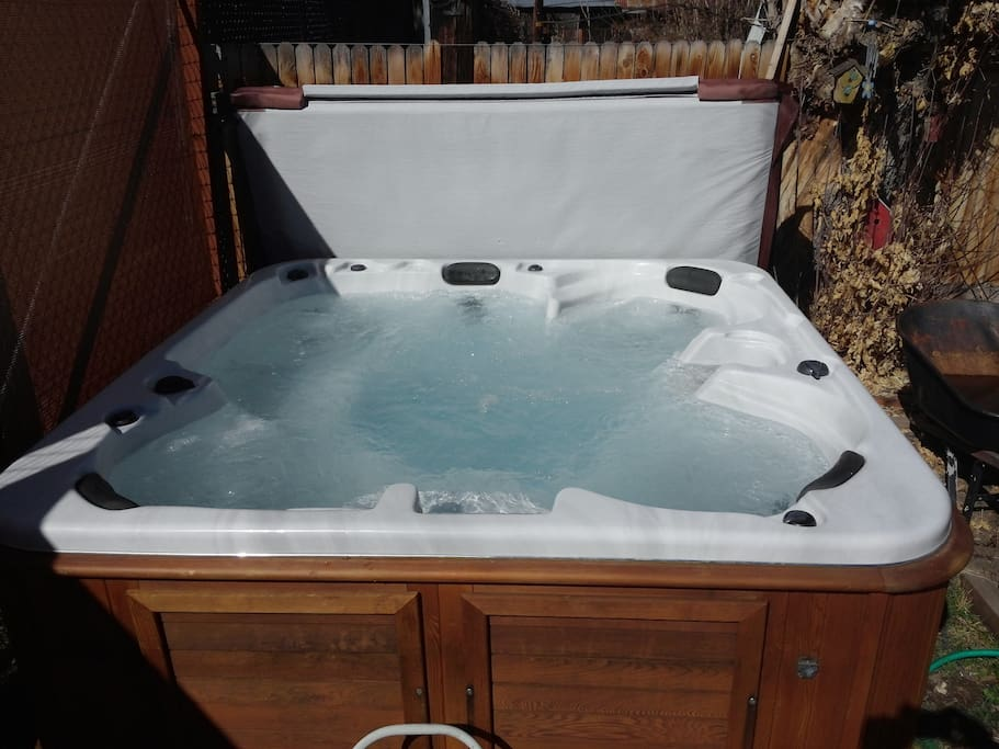 Oh Yea,  this is a nice therapeutic hot tub for your enjoyment!   After ski or after that long day at the salt palace. (currently works but not that great. only 2 seats.  those two seats work nice.