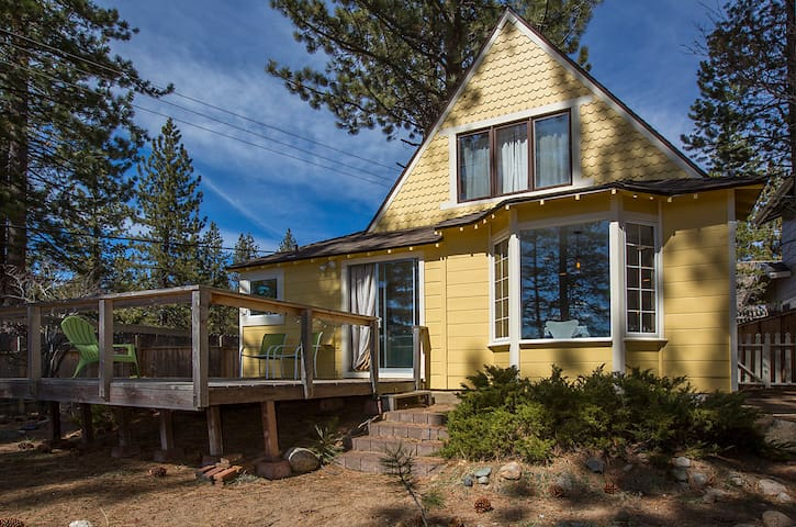 Charming Riverfront Tahoe Cottage