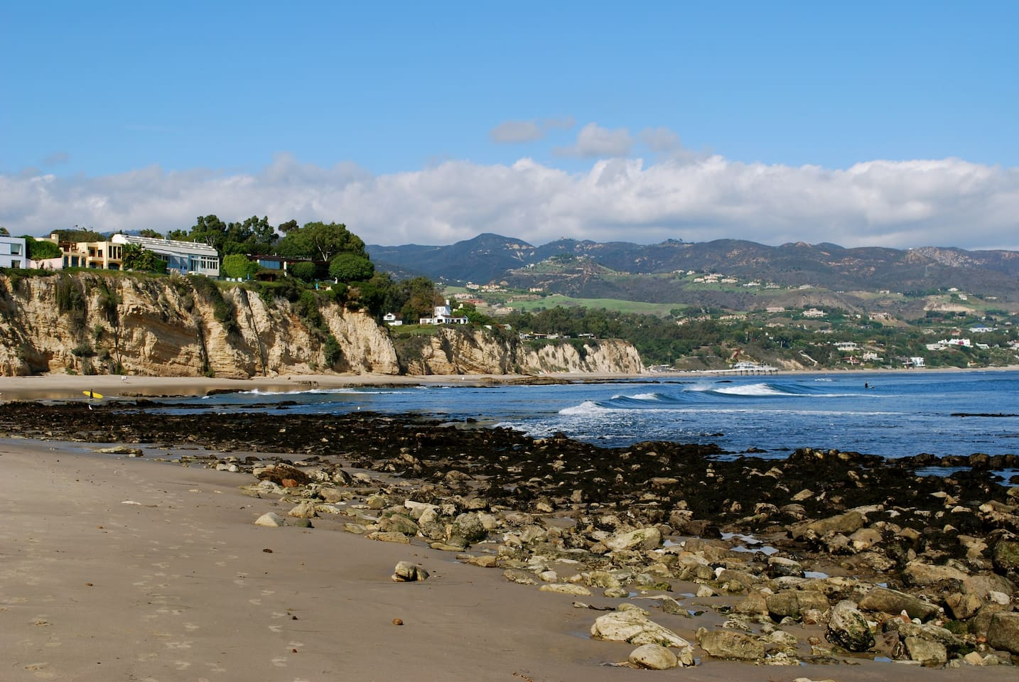 This is Little Dume beach at the end of our street. It is Down bluff stairs.
