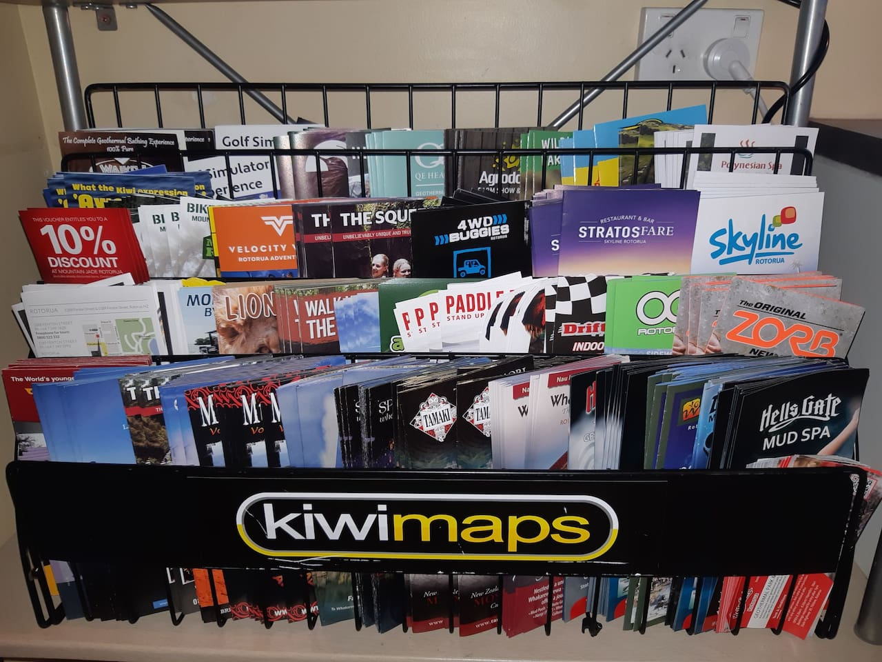 Wide selection of brochures incl.  discounts on some attractions