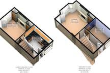 Floor plan lower and ground floors