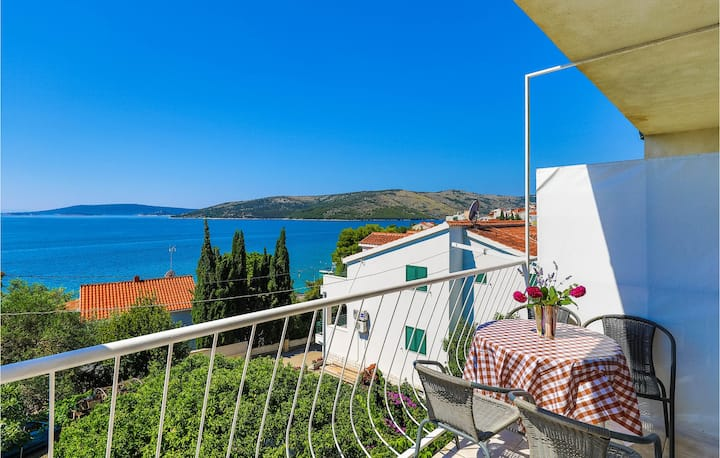 Beautiful apartment in Seget Vranjica with WiFi and 1 Bedrooms