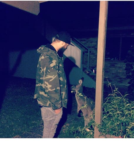Kangaroos come in to eat our fresh grass if an evening keep an ear and eye out for them they love a pat