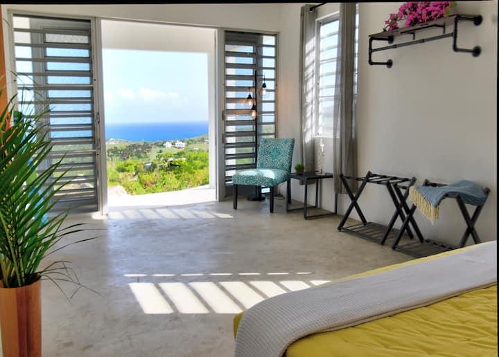 Private hilltop, 360 Caribbean views - El Asombro