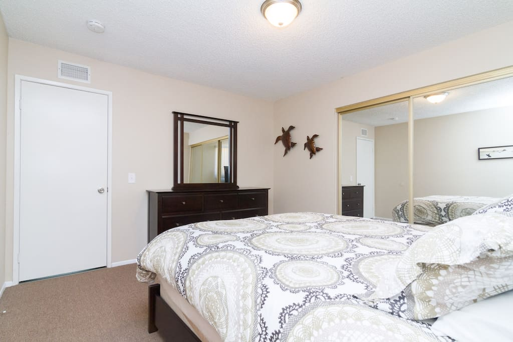Master Bedroom with angle showing large closet
