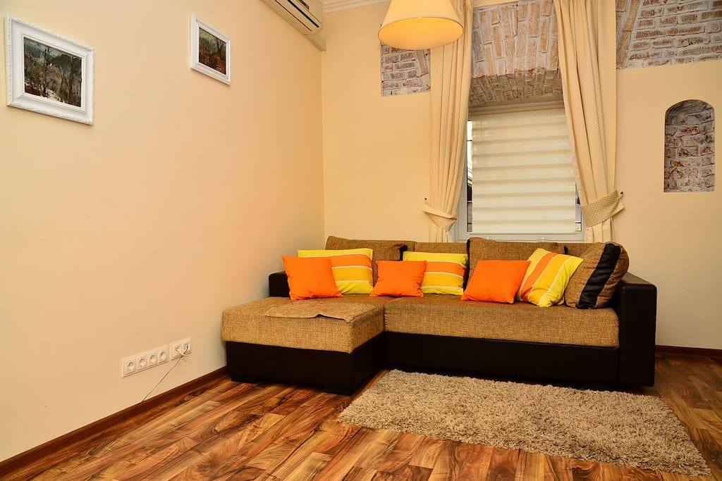 Living Room With TV sofa-bed Ac