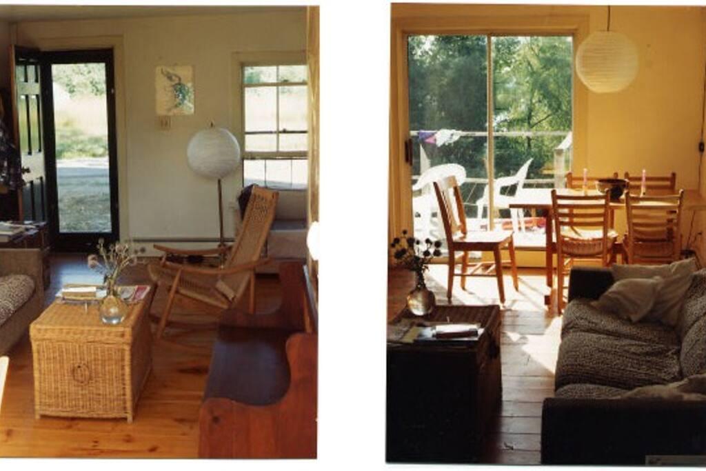 Interior views of living/dining area