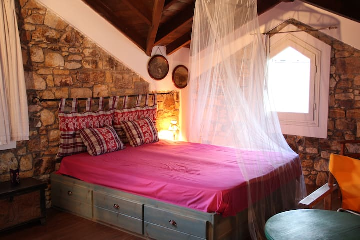 Our attic-bedroom in summer!