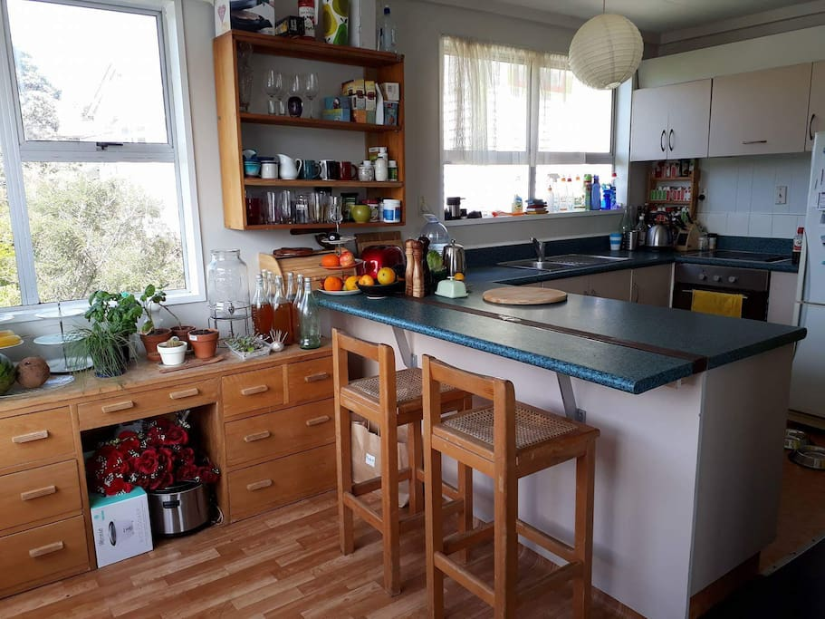 Sunny kitchen! Best place for making pancakes on a Sunday morning...