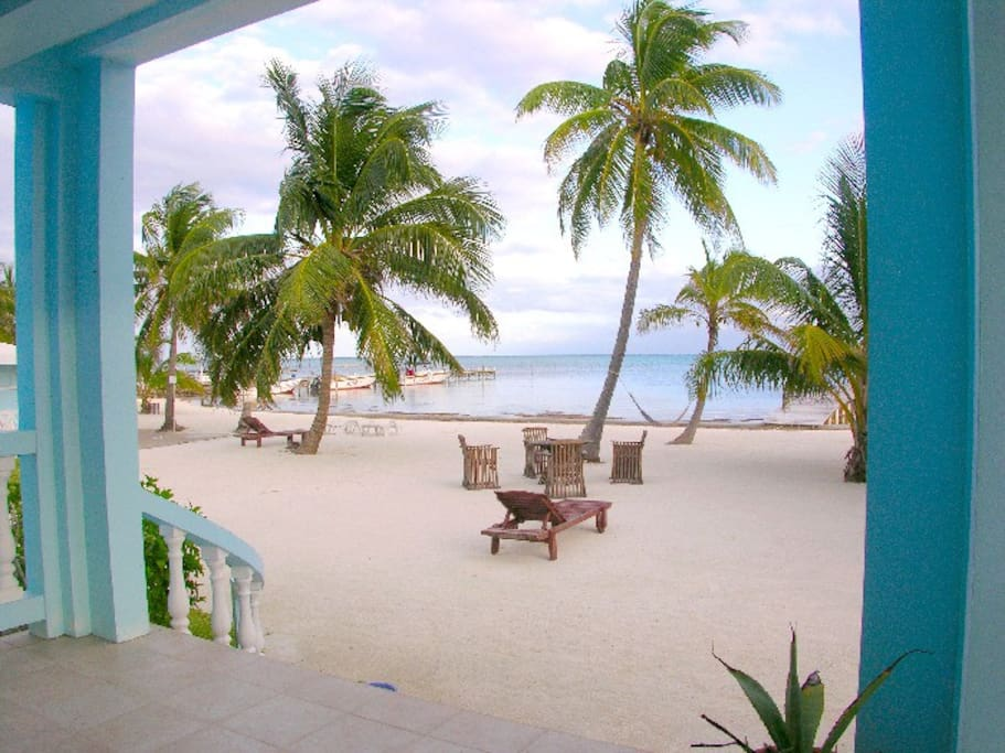 View of private beach from your porch!