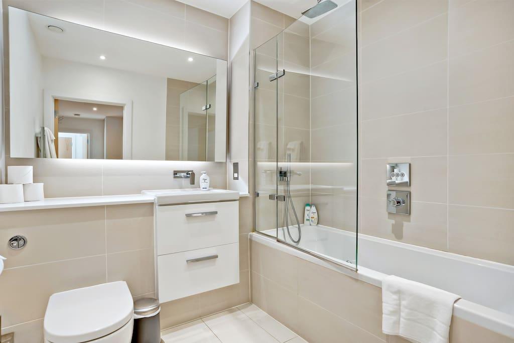 Two modern bathrooms...