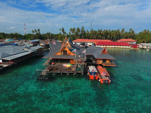Private Room C, Mabul Paradise Lodge, Mabul Island