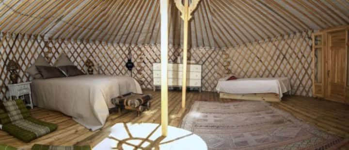 Rural yurt accommodation near the beach-Yurt 1