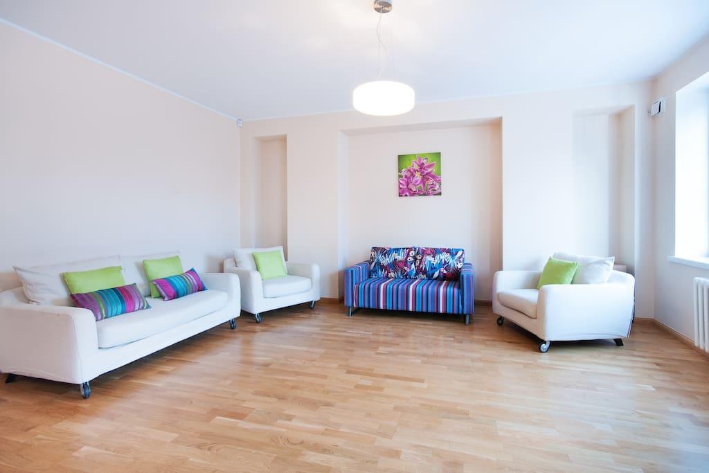 Huge open plan living room