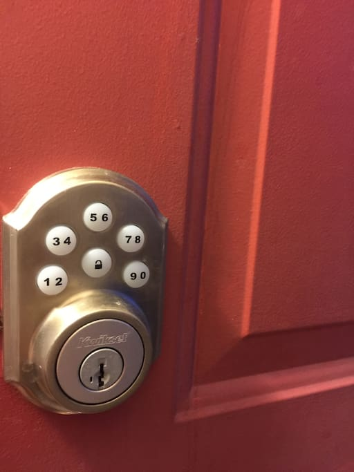Let yourself into the premises with your very own keycode.