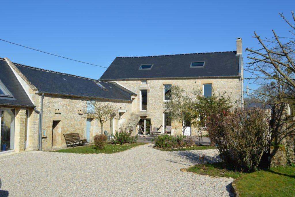 Ancienne ferme r nov e proche mer houses for rent in bazenville lower norm - Vieille ferme renovee ...