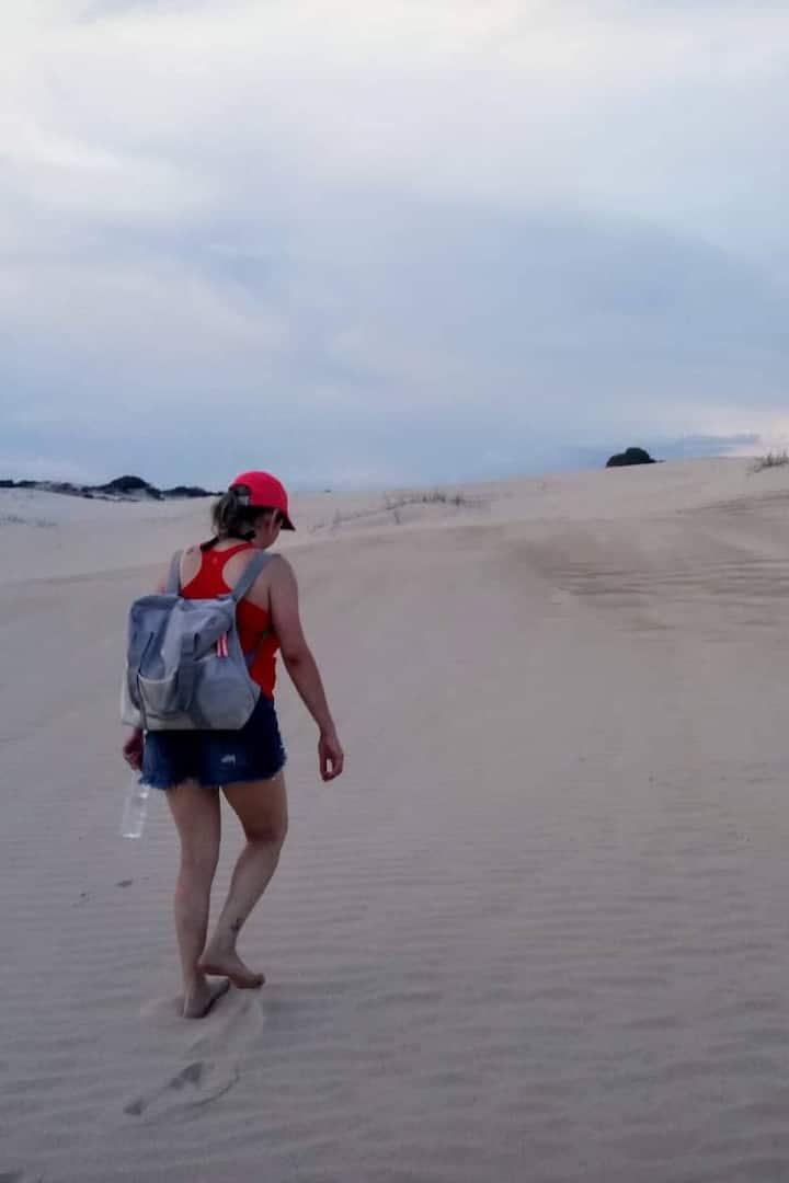Trecho de subida em dunas