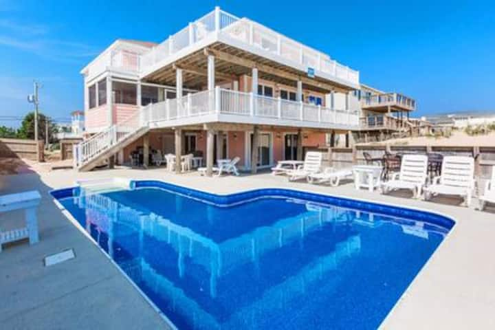 8+ Bedroom Oceanfront Pool/Hot Tub Sandbridge, VA