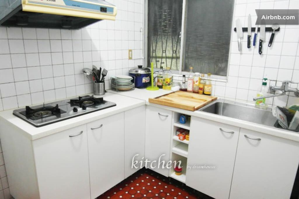 Clean and neat kitchen with all the cooking equipments.