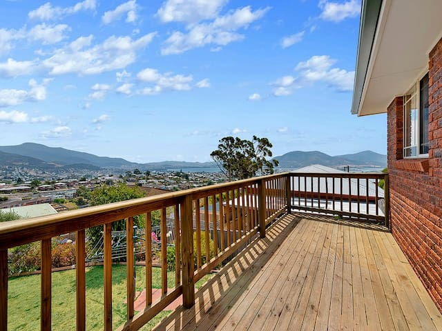 House in West Moonah with an panoramic view