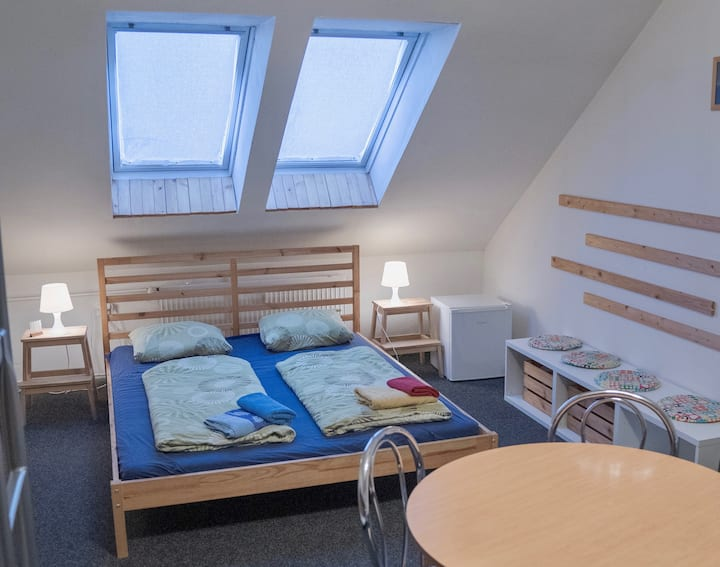 Private attic room with private bathroom