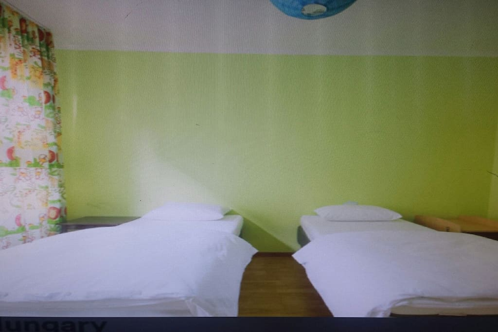 In that room there are 3 beds ! 3 people or 1 people or couples can stay!  Thé price the same!  And there is TV too !