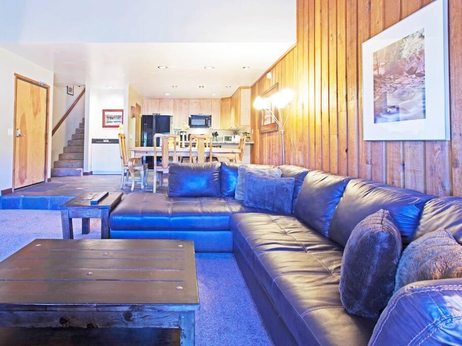 Spacious Living room comfortable queen sofa