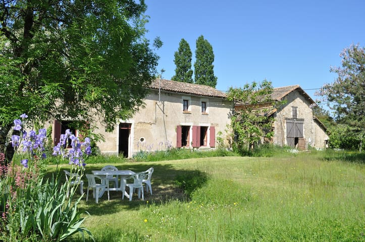 Old farmhouse in France + camping - Sepvret - Huis