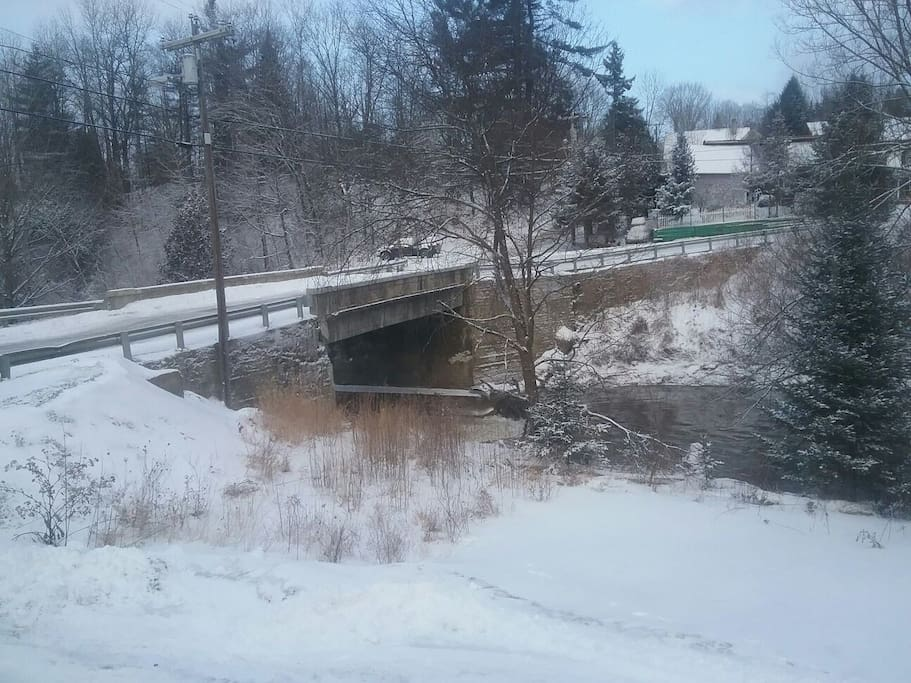 View of Lamoille River out of the dining room windows.