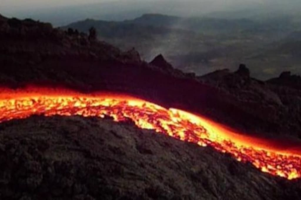 Lava del volcan de Pacaya