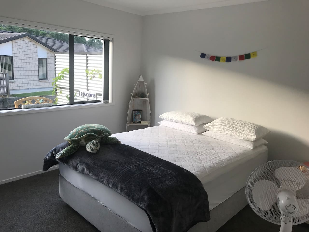 Spacious airy bedroom with very comfy Queen size bed