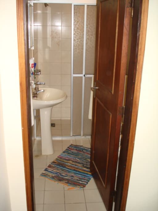 clean private bathroom, bidet and shower