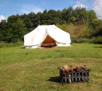 Glamping at 'Loddon Mill Arts' Bell Tent & burner - Loddon - Tält