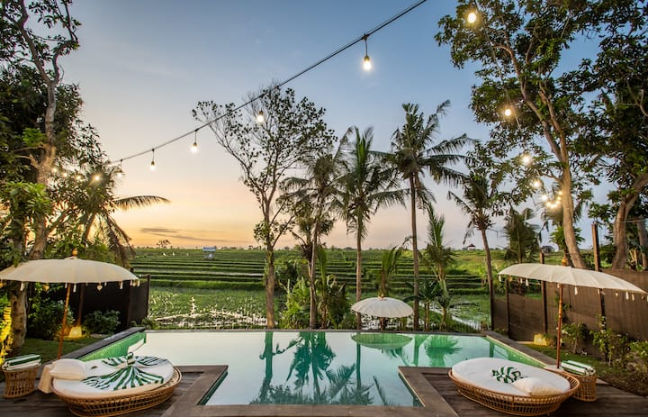 Breathtaking Private villa, 6 BR, Canggu w/ staff